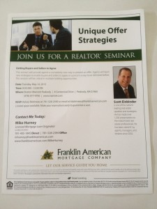 Brokers, you can join me for complimentary Breakfast and this important Seminar!